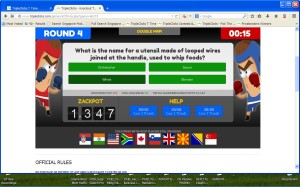 TripleClicks Eager Zebra Game Knockout Trivia