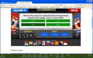 TripleClicks Eager Zebra Game Knockout Trivia