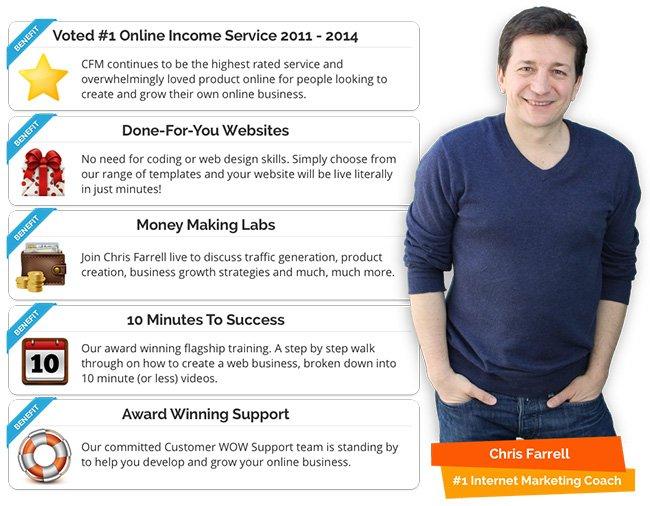 Chris Farrell Membership Program For Any Internet Marketers